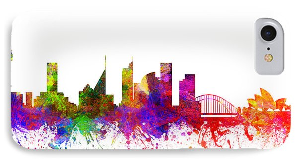 Sydney Australia Cityscape 02 IPhone Case by Aged Pixel