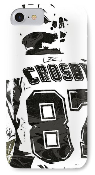 Sydney Crosby Pittsburgh Penguins Pixel Art 2 IPhone Case by Joe Hamilton