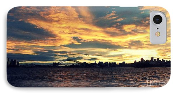 Sydney Harbour At Sunset IPhone Case by Leanne Seymour