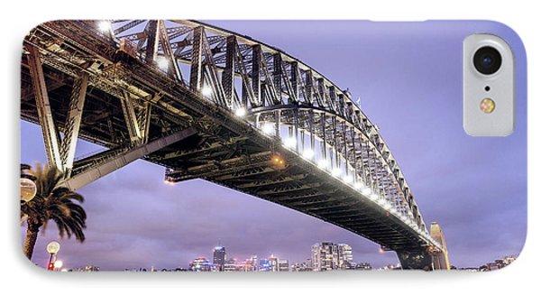 Sydney Harbour Bridge At Night IPhone Case by Giovanni Gagliardi