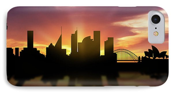 Sydney Skyline Sunset Ausy22 IPhone 7 Case by Aged Pixel