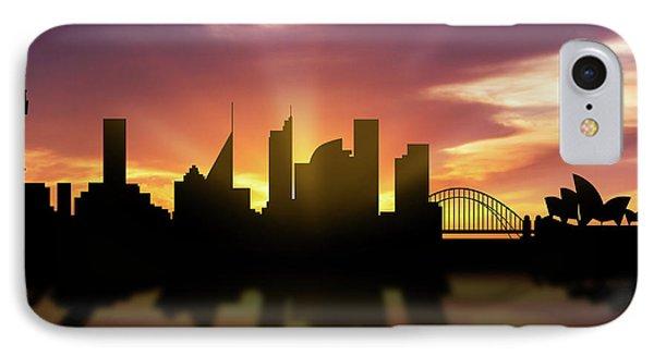 Sydney Skyline Sunset Ausy22 IPhone Case by Aged Pixel