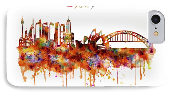 Sydney Watercolor Skyline IPhone Case