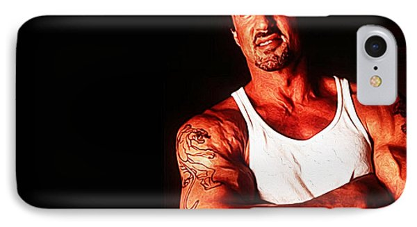 Sylvester Stallone IPhone Case by Iguanna Espinosa