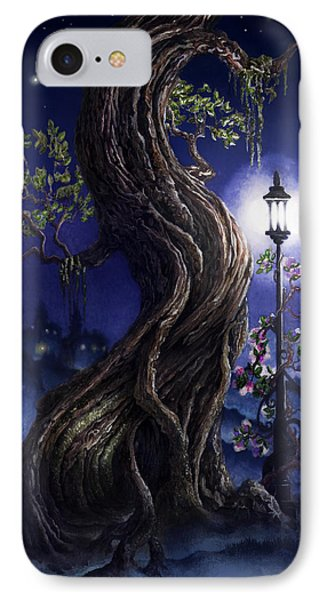IPhone Case featuring the painting Sylvia And Her Lamp At Dusk by Curtiss Shaffer