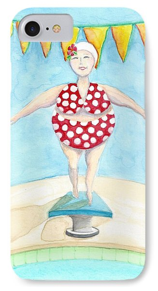 Sylvia At The Pool IPhone Case by Stephanie Troxell