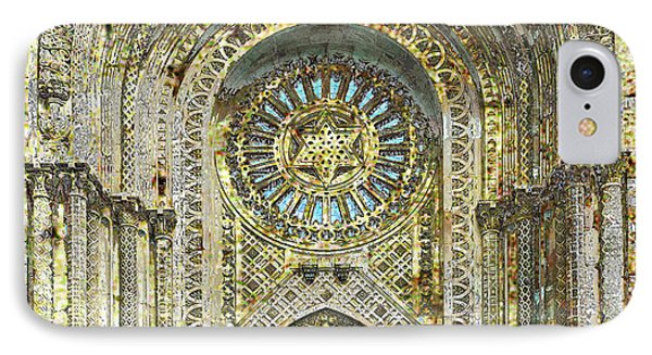 IPhone Case featuring the mixed media Synagogue by Tony Rubino