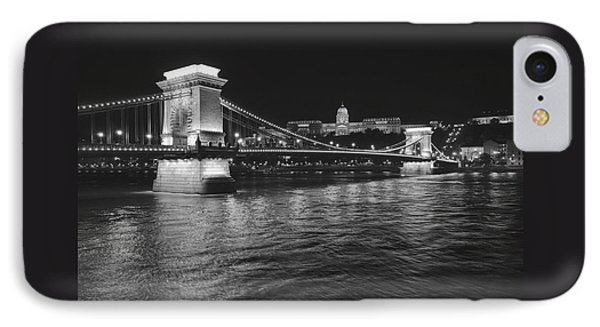 Szechenyi Chain Bridge Budapest IPhone Case by Alan Toepfer