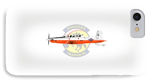 T-6b Texan II Vt28 IPhone Case by Arthur Eggers