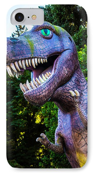 T-rex Oregon Woods IPhone Case by Garry Gay