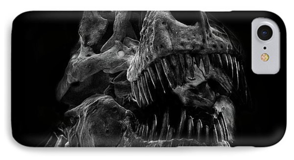 T Rex Skull IPhone Case by Martin Newman