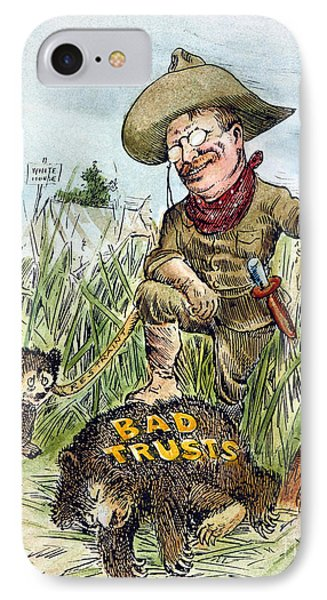 T. Roosevelt Cartoon, 1909 Phone Case by Granger