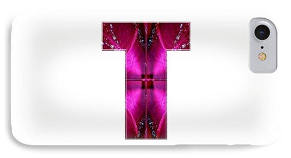 T Tt Ttt Alpha Art On Shirts Alphabets Initials   Shirts Jersey T-shirts V-neck By Navinjoshi IPhone Case
