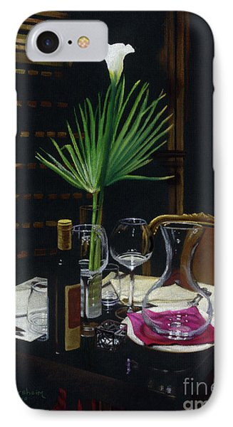 Table For Two A Night's Promise Phone Case by Kelly Borsheim