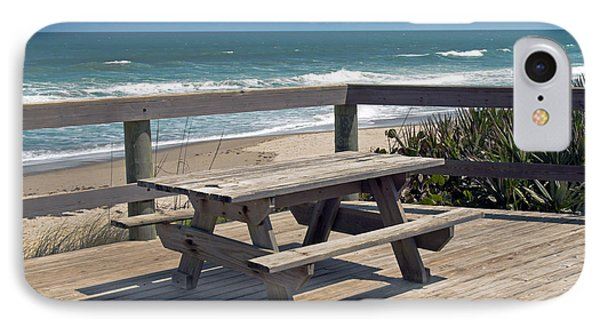 Table For You In Melbourne Beach Florida Phone Case by Allan  Hughes