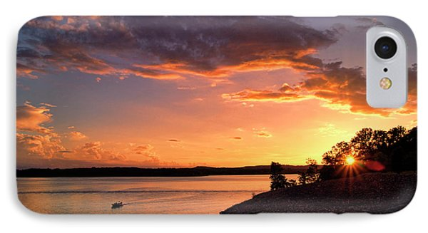 IPhone Case featuring the photograph Table Rock Sunset by Cricket Hackmann