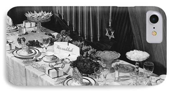 Table Set For Hanukkah IPhone Case by Underwood Archives