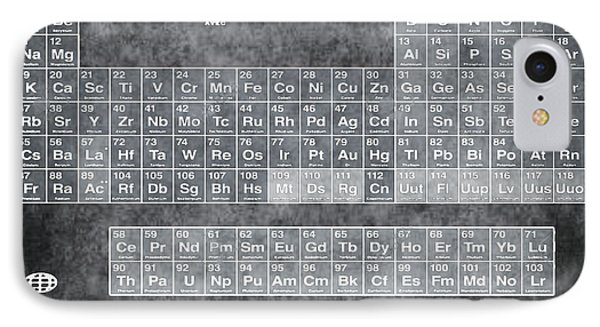 Tableau Periodiques Periodic Table Of The Elements Vintage Chart Silver IPhone Case by Tony Rubino