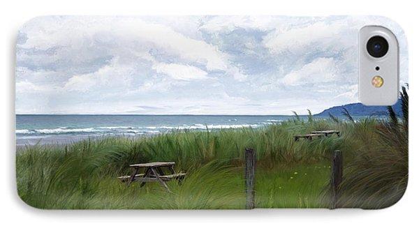 Tables By The Ocean IPhone Case by Debra Baldwin