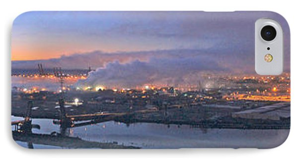 Tacoma Dawn Panorama IPhone Case by Sean Griffin