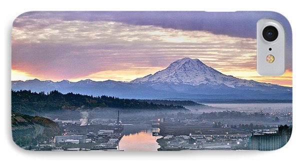 Tacoma Dawn IPhone Case by Sean Griffin