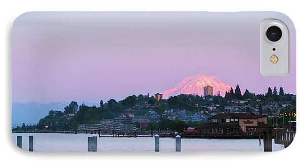 Tacoma Sunset IPhone Case by Ken Stanback