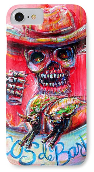 IPhone Case featuring the painting Tacos De Barbacoa by Heather Calderon