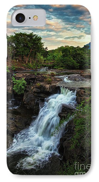 Tad Lo Waterfall, Bolaven Plateau, Champasak Province, Laos IPhone Case by Sam Antonio Photography