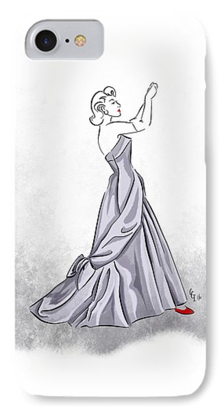 IPhone Case featuring the digital art Taffeta Gown by Cindy Garber Iverson