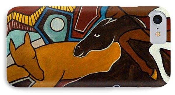 Taffy Horses Phone Case by Valerie Vescovi