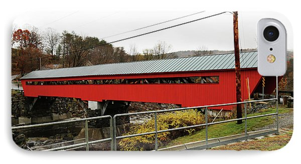 Taftsville Covered Bridge 1 IPhone Case by Imagery-at- Work