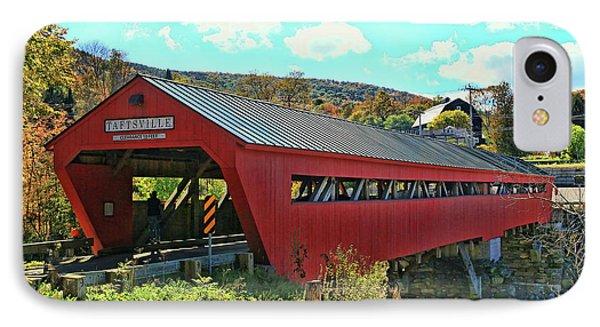 Taftsville Covered Bridge IPhone Case by Allen Beatty