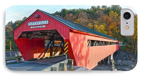 Taftsville Covered Bridge IPhone Case by Catherine Sherman