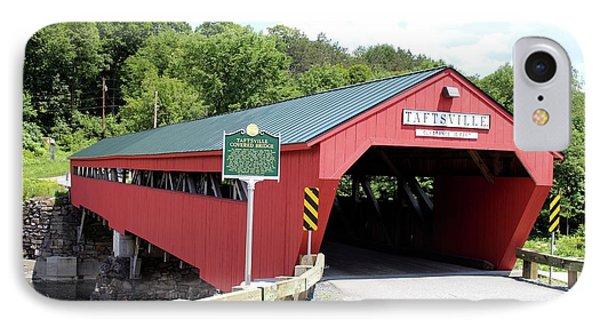 Taftsville Covered Bridge IPhone Case by Georgia Hamlin