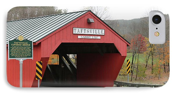 Taftsville Covered Bridge IPhone Case by Imagery-at- Work