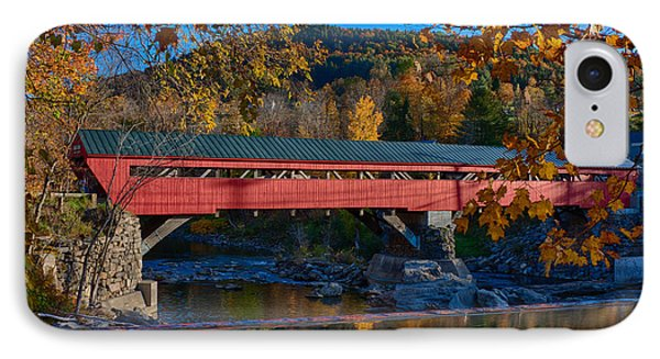 Taftsville Covered Bridge In Autumn Colors IPhone Case by Jeff Folger
