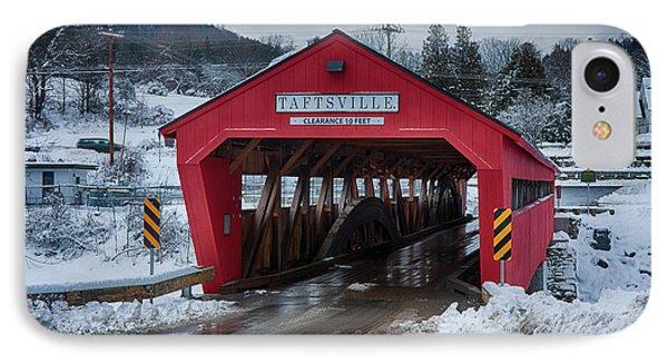 Taftsville Covered Bridge In Winter IPhone Case by Jeff Folger