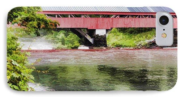 Taftsville Covered Bridge Watercolor IPhone Case by Teri  Kimbro