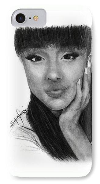 Ariana Grande Drawing By Sofia Furniel IPhone Case