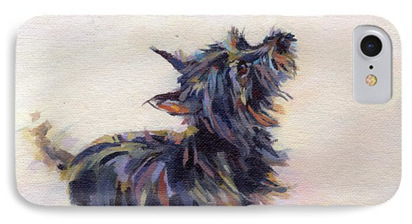 Tail Wagging Fury Phone Case by Kimberly Santini
