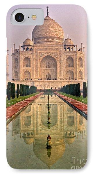 Taj Mahal At Sunrise IPhone Case by Luciano Mortula