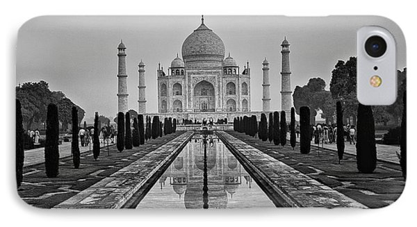 Taj Mahal In Black And White IPhone Case by Jacqi Elmslie