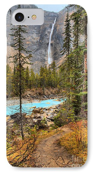 IPhone Case featuring the photograph Takakkaw Falls Fall Portrait by Adam Jewell
