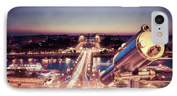 IPhone Case featuring the photograph Take A Look At Paris by Hannes Cmarits
