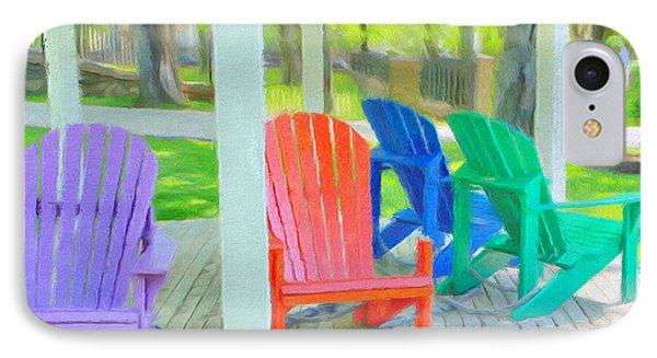 Take A Seat But Don't Take A Chair Phone Case by Jeff Kolker