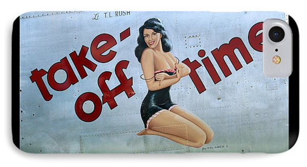 Take-off Time IPhone Case by Kathy Barney