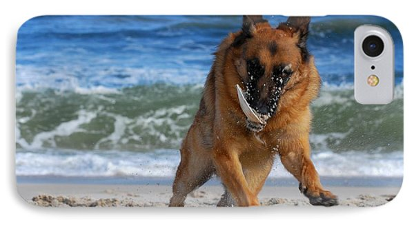 Take Off With A Clam Shell - German Shepherd Dog IPhone Case