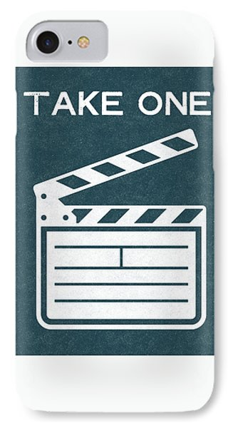 Take One- Art By Linda Woods IPhone Case by Linda Woods