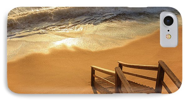 Take The Stairs To The Waves IPhone Case by Joni Eskridge