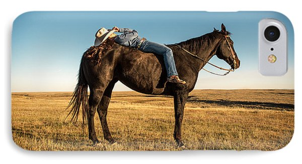 Horse iPhone 7 Case - Taking A Snooze by Todd Klassy